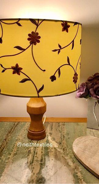 Floral drum lampshade