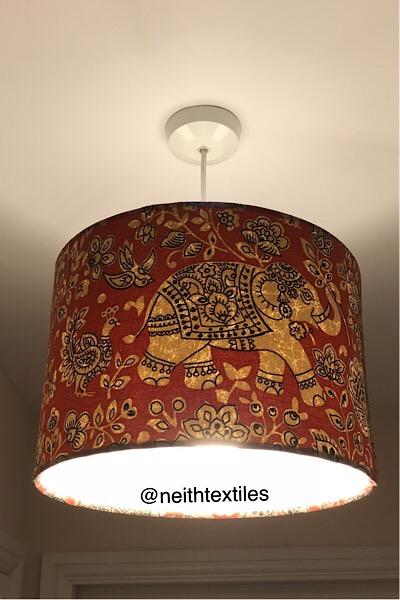 Bohemian hanging lampshade