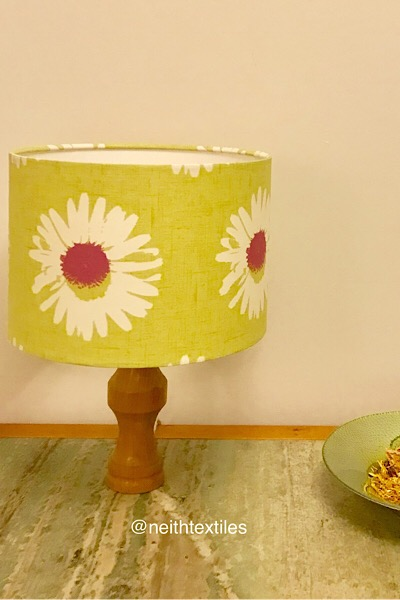 Hanging and freestanding floral lampshade