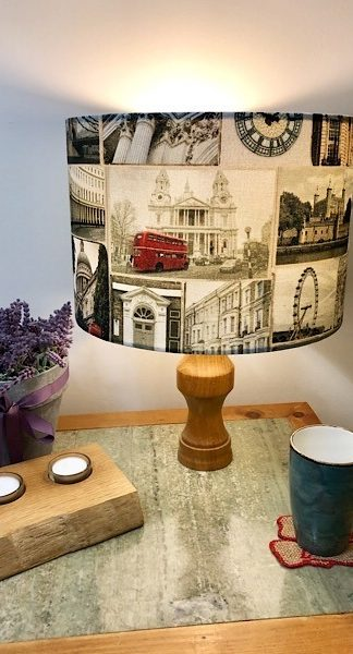 Hand turned London lampshade